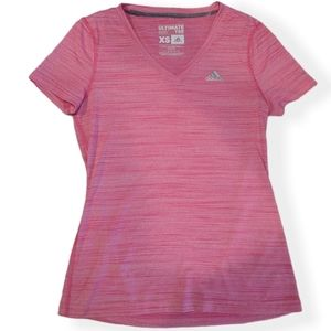 ADIDAS Women's Pink Athletic Ultimate Tee T-shirt